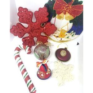 Random Lot of Christmas Decor For Crafts Repurpose